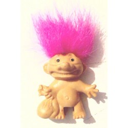 Troll cheveux roses