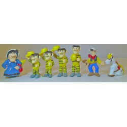 Lot de 7 Figurines Lucky Luke