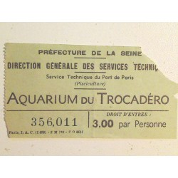 Ticket Aquarium du Trocadero