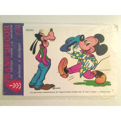 Ancienne decalcomanie : Mickey et Dingo