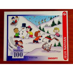 Puzzle SNOOPY : Snoopy aux sports d'hiver