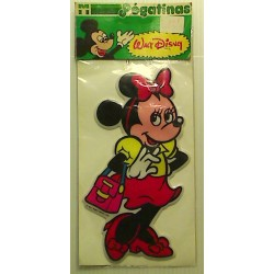 Ancien Autocollant mousse Disney  : MINNIE