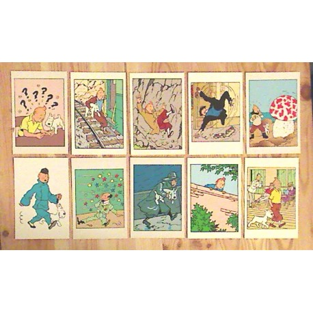 Lot de 14  Cartes postales TINTIN